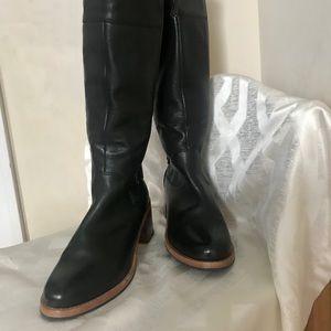 Clark's long black boots